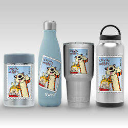 Calvin & Hobbes Stamp Decal Sticker for Yeti RTIC Swell Hydro Flask Tumbler Mug