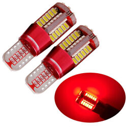 2x T10 Red Light CANBUS ERROR FREE 501 194 W5W 3014 57SMD Car LED Lights Bulbs $3.50