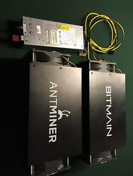 Bitcoin Mining Kit Bundle of2 Antminer S3 450Gh s miners w PSU included $750.00