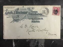 1890 Boston USA Commercial Cover To North Hampton Smithamp;winchester Co