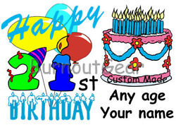 BOYS FUNNY PERSONALIZED HAPPY BIRTHDAY T SHIRT For Any Age 1 to 101 $21.99
