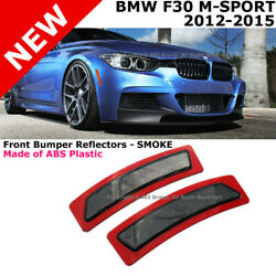 For 13-15 BMW F30 F31 3-Series W Sport Package Crystal Smoke Side Marker Lights
