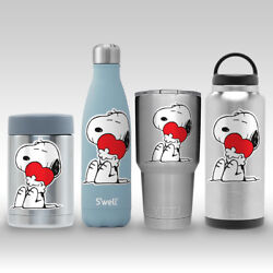 Snoopy Hugs Heart Peanuts LOVE Decal Sticker for Yeti RTIC Flask Tumbler Mug Cup