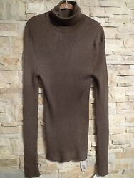 $2675. GUCCI 100%CASHMERE RIBBED MEN'S TURTLENECK SWEATER  ITALY SIZE XXXL
