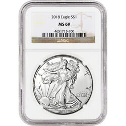 2018 American Silver Eagle - NGC MS69