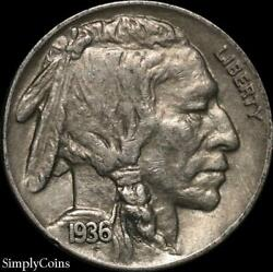 1936 Indian Head Buffalo Nickel ~ XF Extremely Fine ~ US Coin MQ