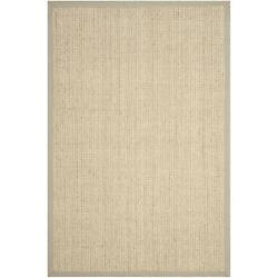 Safavieh Natural Fiber Collection NF475C Hand Woven Light Grey Wool