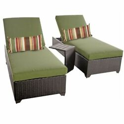Miseno CLASSIC-2x-ST-CILANTRO Traditions 3-Piece Outdoor Chaise Lounge Chair Set