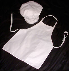 Kids Chef Apron amp; Hat Cooking Kids Dress up Party NWT $8.49