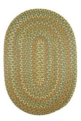Sparkle Confetti Braided Indoor  Outdoor Rug in Olive