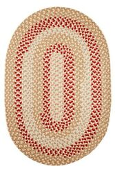 Homespun Braided Durable Outdoor Rug in Natural