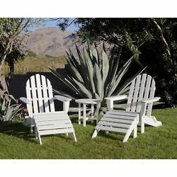 Ivy Terrace Classics 5-piece Folding Adirondack and Ottoman Set