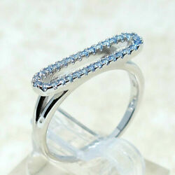 SUPERB LIGHT SAPPHIRE BLUE 925 STERLING SILVER RING SIZE 5-10