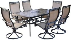 7 PC Outdoor Dining Set Patio Furniture Table Chair Garden Yard Lawn Swivel NEW