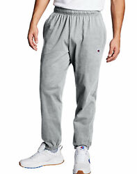 Champion Authentic Men#x27;s Athletic Pants Closed Bottom Jersey Sweatpants Workout $22.50