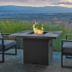 Real Flame Salida 42 in. L x 42 in. W x 27.375 in. H Chat Height LP Fire Table