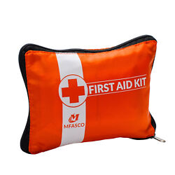 First Aid Bag Empty Orange Small With Slots $5.34