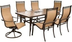 7 PC Patio Dining Set Outdoor Furniture Decor Table Chair 6 PERSON Lounge Deck