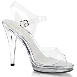 4.5quot; Clear Bikini Contest Heels Fitness Model Pageant Competition Shoes Pleaser $44.95