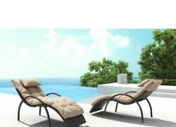 Set 2 Chaise Lounge Chair Outdoor Patio Porch Pool Garden Decor