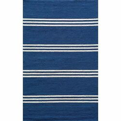 Momeni Veranda Maritime Blue Stripes IndoorOutdoor Rug (8' X 10')