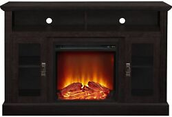 50 IN TV Console Stand Living Room Decor Electric Fireplace Freestanding Cabinet