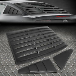 FOR 05-14 FORD MUSTANG COUPE ABS VINTAGE STYLE REAR+QUARTER SIDE WINDOW LOUVERS $130.88