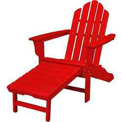 Hanover Outdoor HVLNA15SR Sunset Red All-weather Contoured Adirondack Chair With