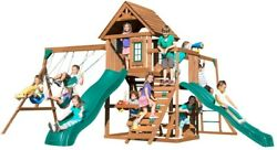Complete Outdoor Kids Playground Garden Yard Decor Swing Slide Monkey Bar Wood