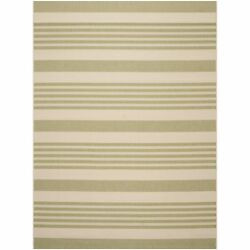 Safavieh Courtyard Stripe Beige Sweet Pea Indoor Outdoor Rug - 9' x 12'