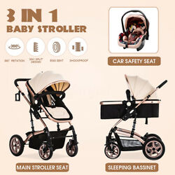 Luxury Baby Stroller 3 in 1 Baby Pram Newborn Car Seat Buggy Pushchair Stroller