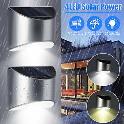 Outdoor Solar 4 LED Deck Lights Path Garden Patio Pathway Stairs Step Fence Lamp