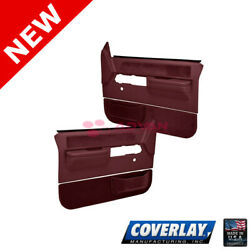 Maroon Replacement Door Panels Pair 18 36N MR For C1500 Pickup Coverlay $366.67
