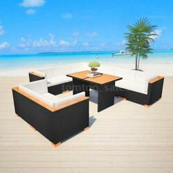 Patio Garden Set Outdoor Lounge Sofa Couch Setting Wicker WPC Rattan New S0Q3