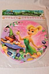 NEW IN PACKAGE TINKERBELL amp; FAIRIES BANNER 9.22 FT LONG PARTY SUPPLIES $4.99
