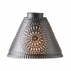 Crestwood or Cambridge Medium Franklin Shade in Kettle Black Punched Tin $29.99