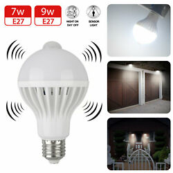 Indoor Outdoor Motion Sensor Light Bulb Motion Activated LED Dusk to Dawn 7W 9W $7.98