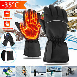 Motorcycle Battery Electric Waterproof Heated Gloves Touchscreen Winter Skiing $13.68