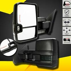 Towing Mirrors For 2014-2017 Silverado GMC Sierra Power+Heated+Smoke Turn Signal