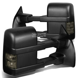 Fit 08 16 Ford F Series PowerHeatedSmoked Signal Led Towing Side Mirror Pair $152.88