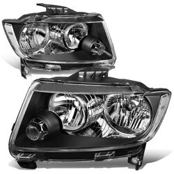 Fit 11-13 Jeep Grand Cherokee WK2 Pair Black Housing Clear Side HeadlightLamps $175.88