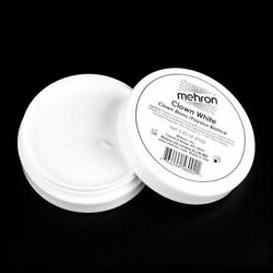 MEHRON CLOWN WHITE PROFESSIONAL STAGE FACE BODY CREAM MAKEUP PAINT MIME 2.25OZ $8.95