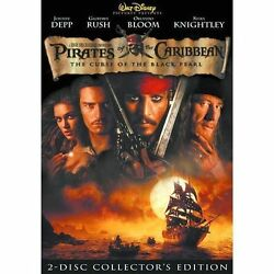 Pirates of the Caribbean: The Curse of the Black Pearl DVD 2003 2 Disc NEW $5.97
