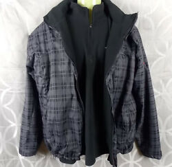 North Face Summit Series TKA 100 Fleece Lined Jacket Gray Black Mens Large 2 pc