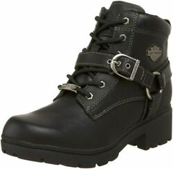 HARLEY DAVIDSON FOOTWEAR Women#x27;s Tegan Ankle Boot 8 Black $182.99