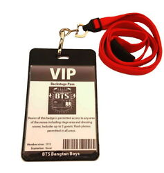 BTS Bangtan Boys Novelty VIP Backstage Concert Pass ID Badge Two Sided $15.99
