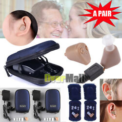 1 2 Packs Rechargeable Digital Mini In Ear Hearing Aid Adjustable Tone Amplifier $24.99
