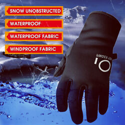 Winter Gloves Men Women Thermal Full Finger Photography Camera Mitten Waterproof $8.89