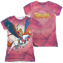 Authentic She-Ra Princess of Power Swift Wind Sublimation Front Back Jr T-shirt