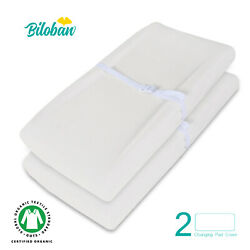 Baby Waterproof Changing Pad Cover Infant Sheet Organic Cotton 2 Pack 32quot; x 16quot; $17.59